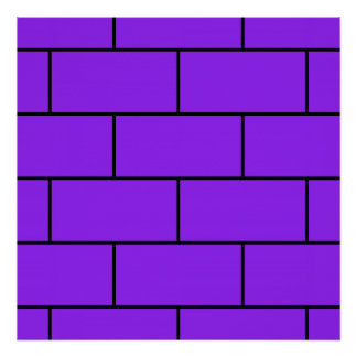 Purple Bricks Structure Pattern Poster