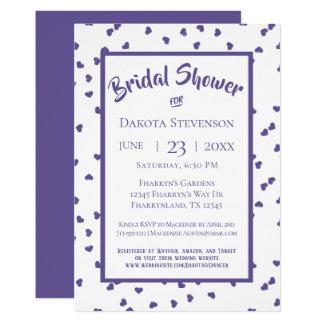 Purple Bridal Shower   Modern Ultra-Violet Hearts Card