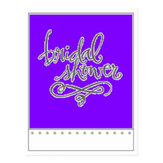 Purple Bridal Shower Postcard