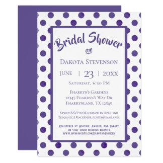 Purple Bridal Shower   Ultra-Violet Polka Dot Card