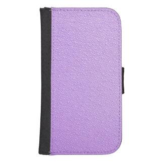 Purple Bumpy Texture Samsung Galaxy S4 Wallet Case