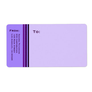 Purple Business Stripes Shipping Label