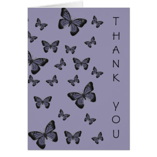 Purple Butterflies Thank You Card