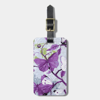 Purple Butterfly Luggage Tag