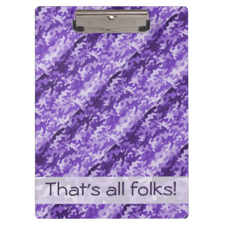 Purple Camo Clipboard