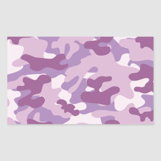 Purple Camo Print Rectangular Sticker