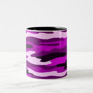 Purple Camo Print Two-Tone Mug