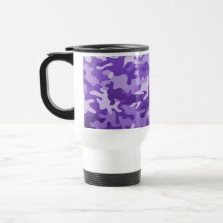 Purple Camo Stainless Steel Travel Mug