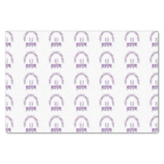 Purple Candles Tissue Paper
