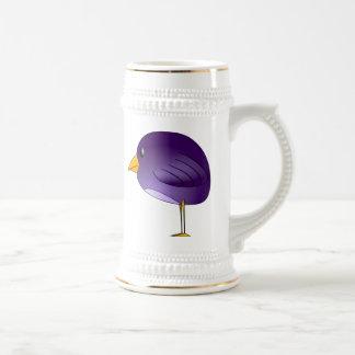 Purple Cartoon Bird Beer Steins