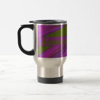 Purple chartreuse Color Swish Travel Mug