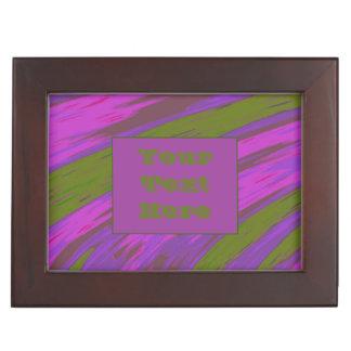 Purple chartreuse Modern Color Swish Keepsake Box