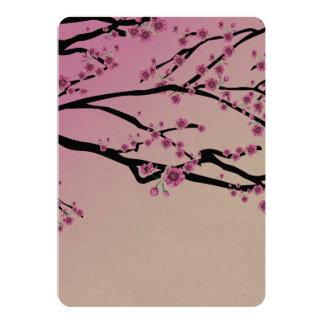 Purple Cherry Blooms 13 Cm X 18 Cm Invitation Card