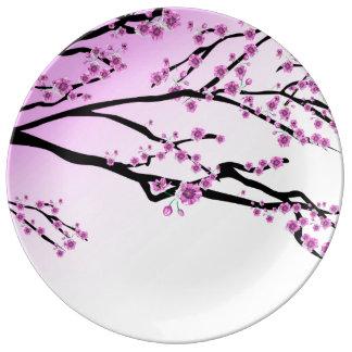Purple Cherry Blossom Sakura Plate