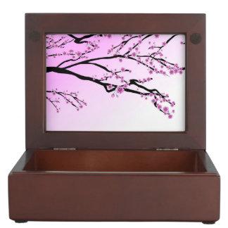 Purple Cherry Flower Sakura Keepsake Box