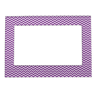 Purple Chevron Pattern Magnetic Frames