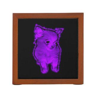 Purple Chihuahua Desk Organiser