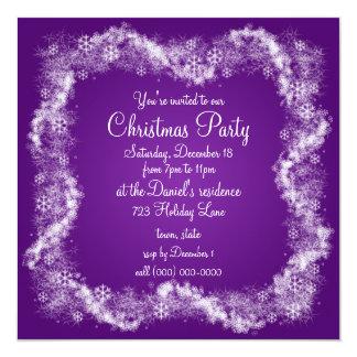 Purple Christmas Party Invitations