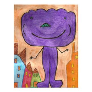 Purple Cloud Autism 21.5 Cm X 28 Cm Flyer