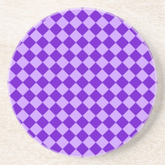 Purple Combination Diamond Pattern Coaster