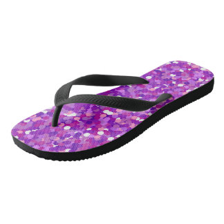Purple confetti glitter pattern jandals