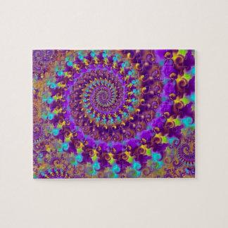 Purple Crazy Fractal Jigsaw Puzzle