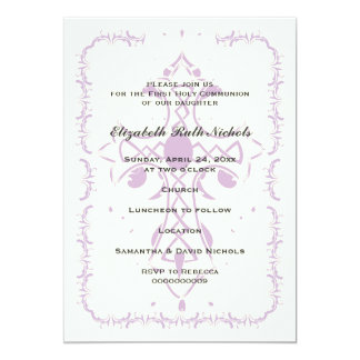 Purple Cross First Communion Confirmation Card