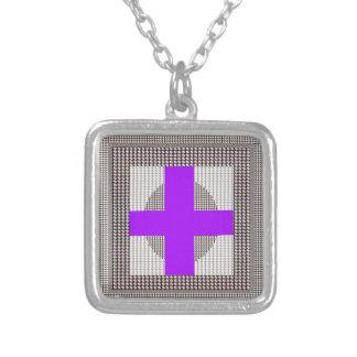 Purple Cross Sparkle White Crystal Beads Gifts Custom Jewelry