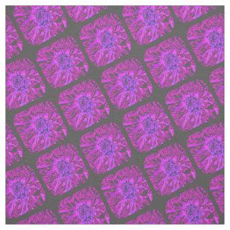 Purple Dahlia Flower Pattern Fabric