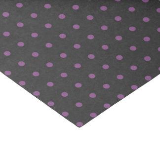 Purple & Dark Gray Polka Dot Tissue Paper