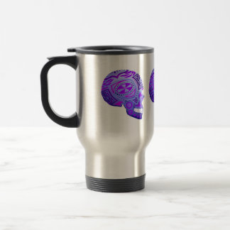 Purple Day of the Dead Skull Mug