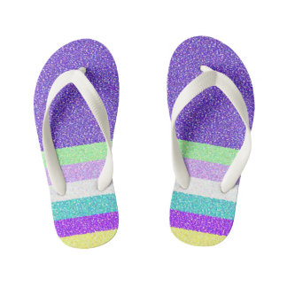 Purple Design Flip Flops