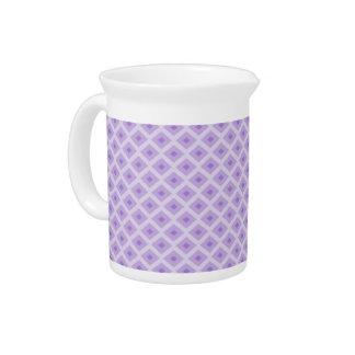 Purple Diamond Pattern Porcelain Pitcher