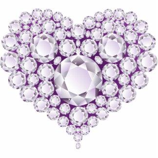 Purple Diamonds Heart Magnet Cut Outs