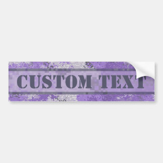 Purple Digi Camo w/ Custom Text Bumper Sticker