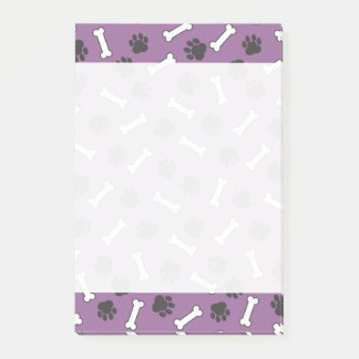 Purple Doggie Paws Chew Bones Post-it Notes