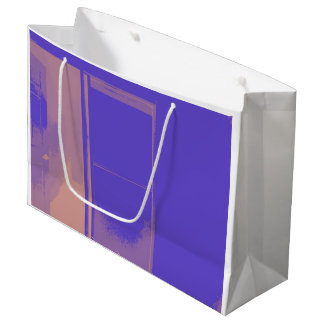 PURPLE DOUBLE SIDED SHOPPING BAG