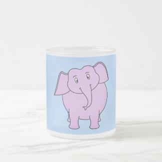 Purple Elephant Cartoon Mugs