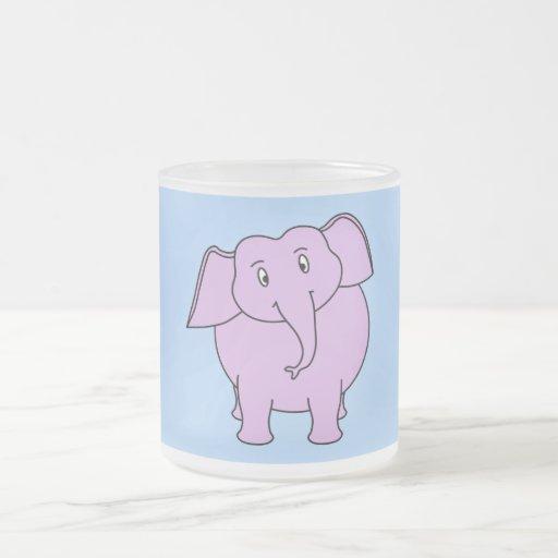 Purple Elephant. Cartoon Mugs