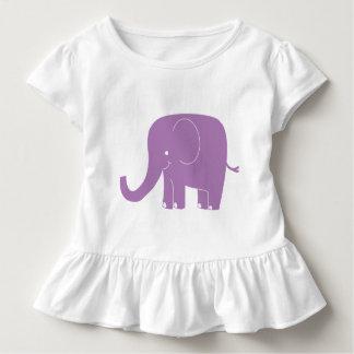 Purple Elephant Ruffle Shirt