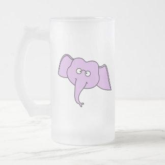 Purple Elephant with Glasses Mug