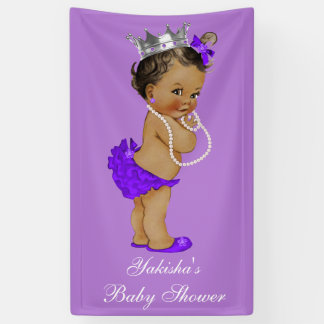 Purple Ethnic Little Princess Baby Shower