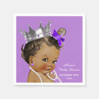 Purple Ethnic Princess Baby Shower Personalized