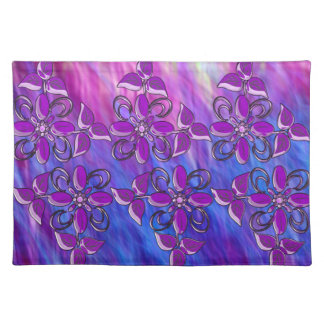 Purple examined placemat
