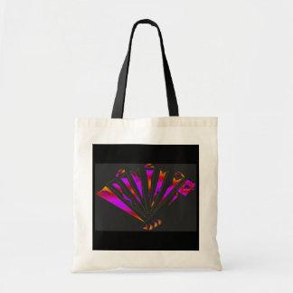 Purple Fantasia In Natural And Black Budget Tote Bag