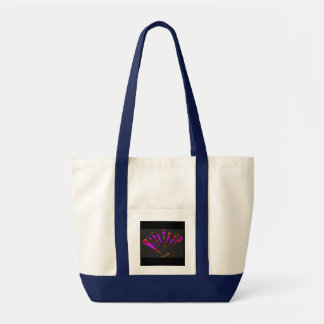 Purple Fantasia In Natural And Navy Canvas Bags