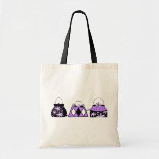 Purple Fashion Tote Bag