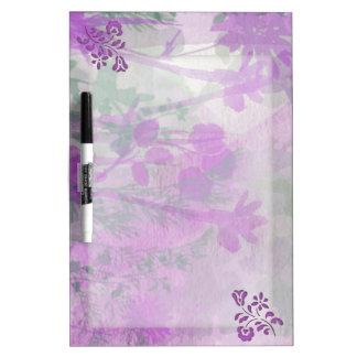 Purple Floral Dry Erase Board