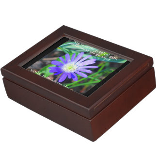 Purple Floral Inspirational Keepsake Box