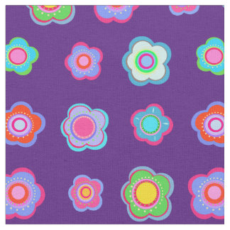 Purple floral pattern fabric
